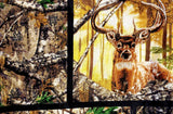 This mask has a Hunting theme. Fabric design may not be exactly like the photo but it will retain the theme.