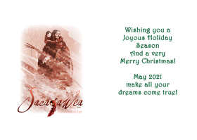 Greeting Cards - Christmas & New Year - Sacajawea, The Windcatcher