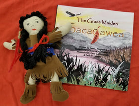 Holiday Package - Book & Doll - The Grass Maiden, Sacajawea