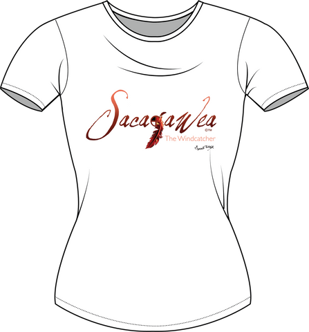 Sacajawea, The Windcatcher Ombre Logo T-shirt