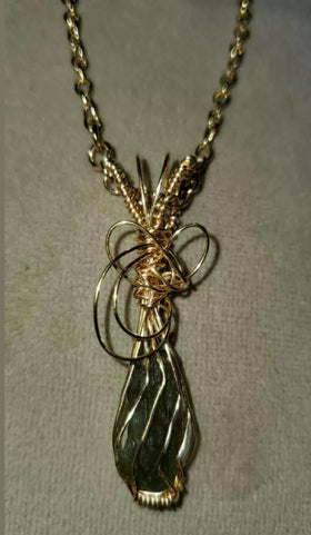 Jewelry - Sapphire Wire Wrapped Necklace