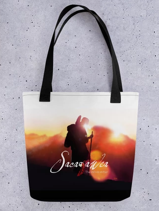 Sacajawea, The Windcatcher 15X15 Tote bag