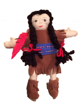 Toys - The Grass Maiden, Sacajawea - Hand-made Doll