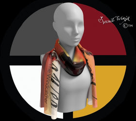 Scarf - Sacajawea, The Windcatcher Logo Art