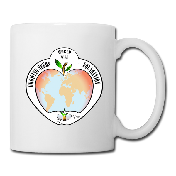Mug - Logo - Growing Seeds Worldwide - 11 oz. - white
