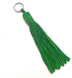 Suede Tassel Key Ring | Tamegroute Green