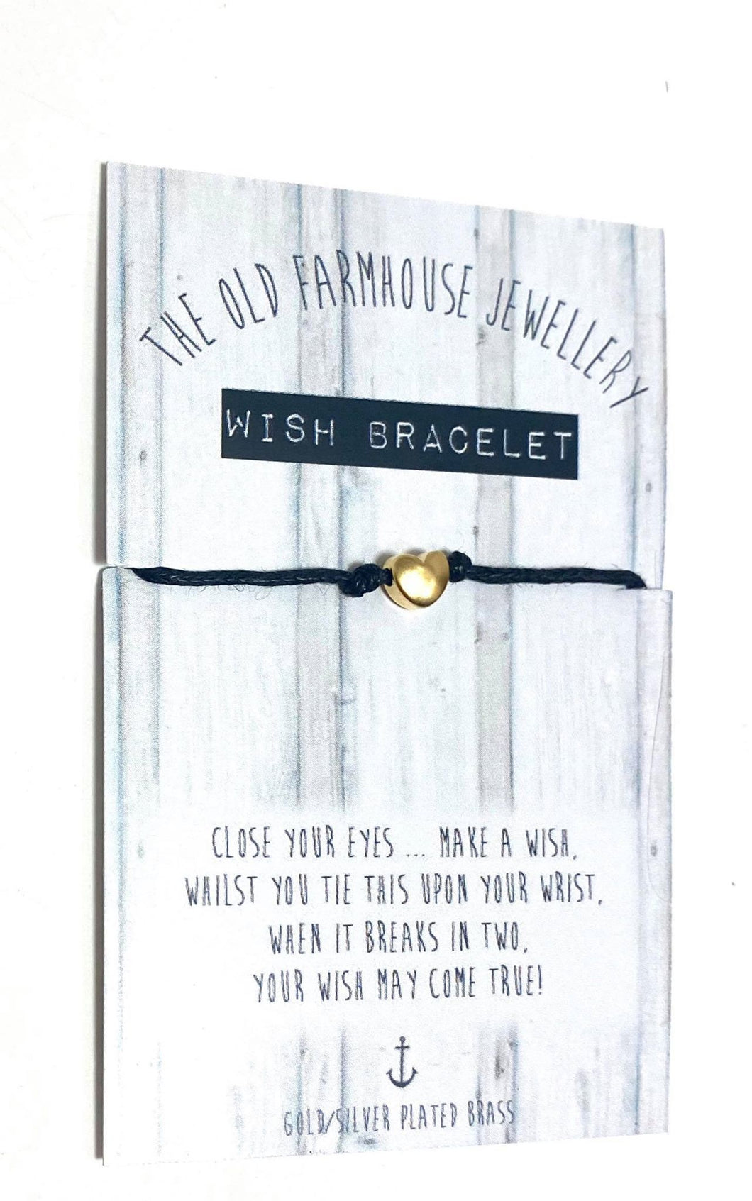 Handmade Wish Friendship Bracelet | Gold Heart