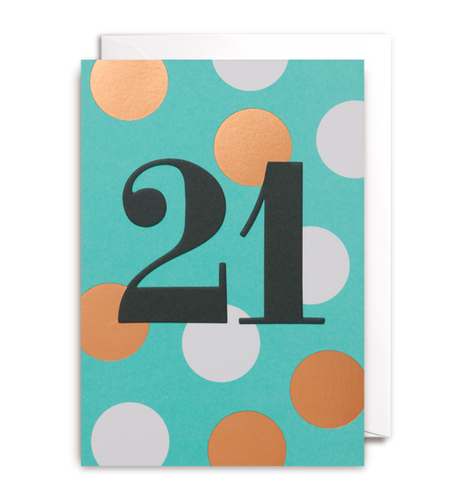 Twenty-first birthday card postco