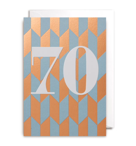 70 Birthday Card