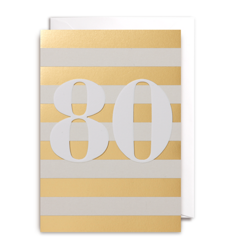 Eightieth Birthday Card