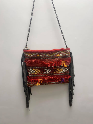 Moroccan Tassel Carpet Bag