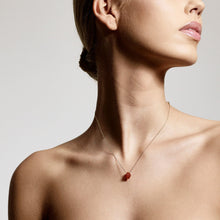 Load image into Gallery viewer, Necklace : Sacral Chakra : Gold Plated : Carnelian