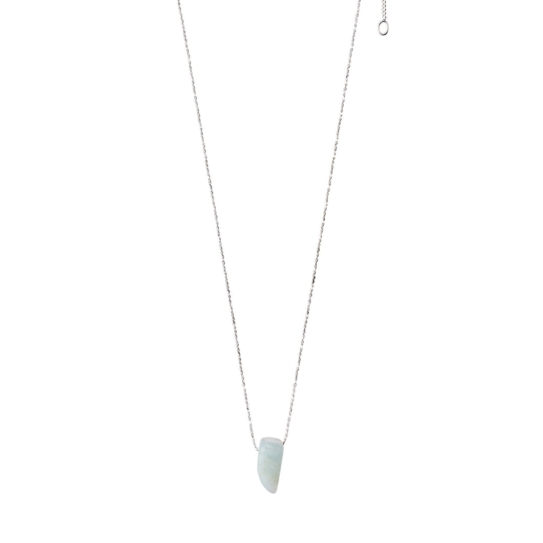 Amazonite on silver chain Necklace