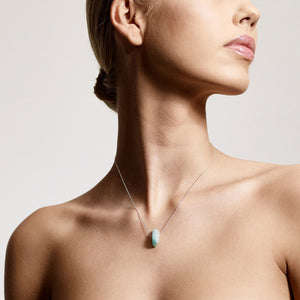 Amazonite throat chakra balancing necklace