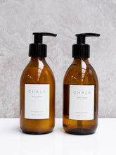 Load image into Gallery viewer, Chalk white jasmine bath wash and lotion