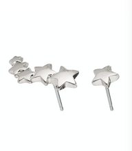 Load image into Gallery viewer, Pilgrim Ava Silver Plated Shooting Star Ear Crawler Studs