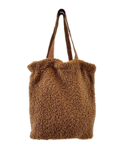 Load image into Gallery viewer, Black Colour Denmark Brown Teddy Tote Bag