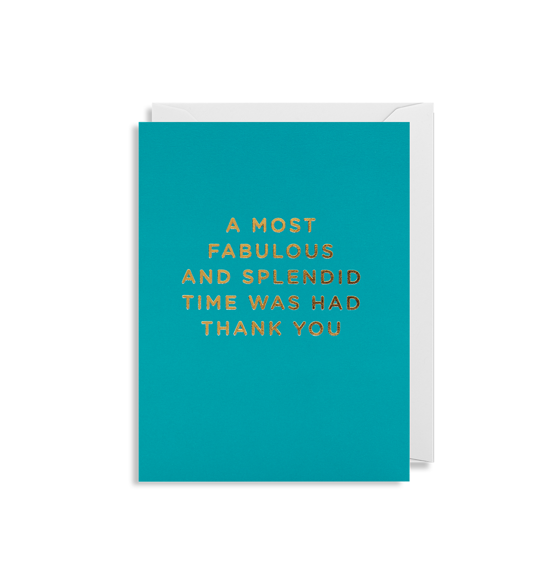 MINI CARD | A most fabulous time