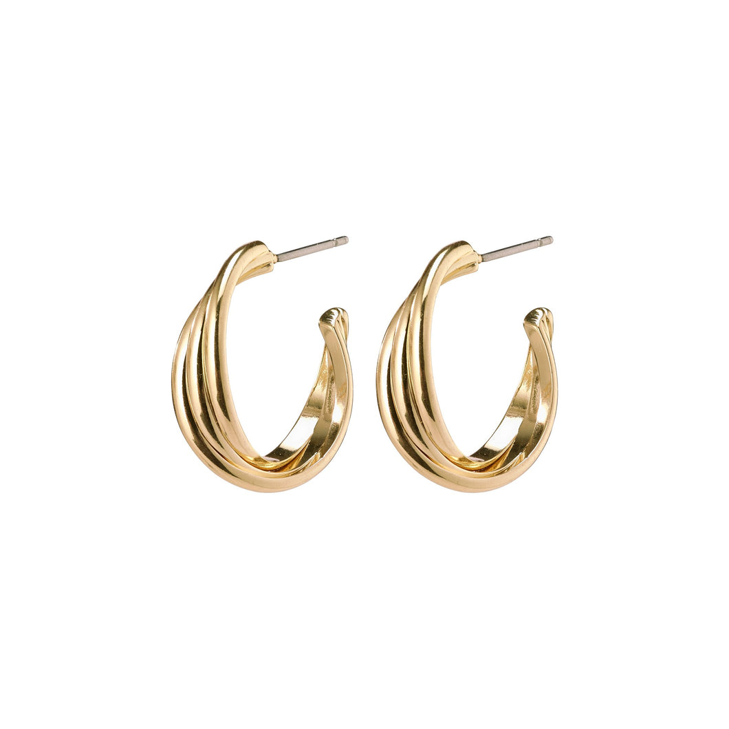 three hoop twist earring