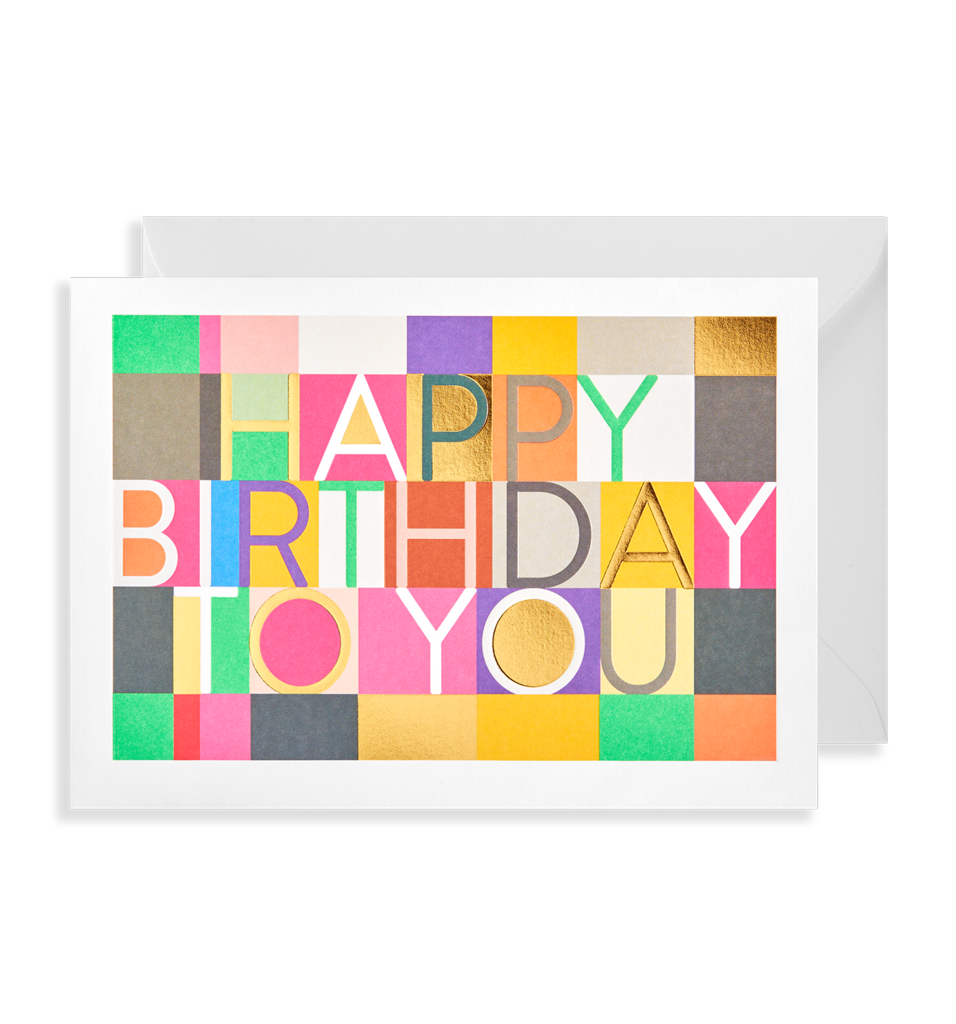 Multicoloured birthday card