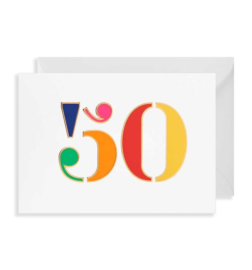 Colourful 50 card