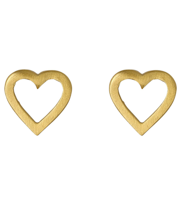 Pilgrim Sophia gold plated open heart stud earrings