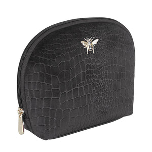 Alice Wheeler black bee velvet beauty case