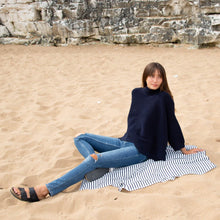 Load image into Gallery viewer, Chalk uk navy batwing jumper