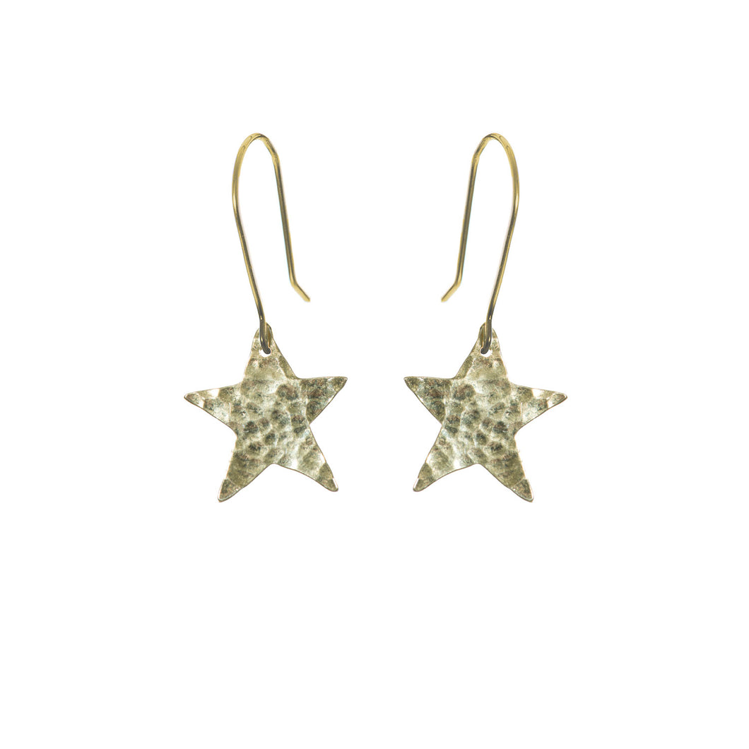 22 Carat gold plated star earrings