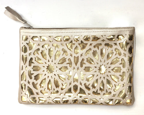 purse with islamic cut out pattern