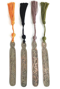 Moroccan bookmark with green tassel