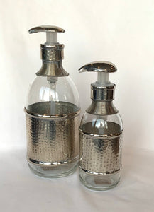 Silver soap dispenser