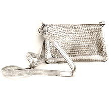 Load image into Gallery viewer, Silver studded handbag