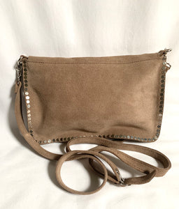 crossbody bag with silver studs