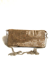 Sand crossbody bag with silver studs