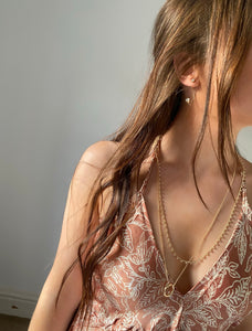 Nude silk dress