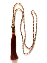 Load image into Gallery viewer, Deep red beaded necklace