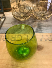 Load image into Gallery viewer, Green recycled glass votive