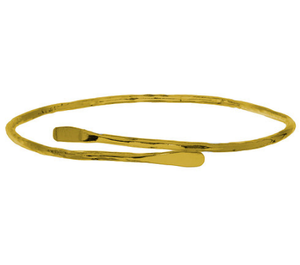 gold plated ethically produced bangle
