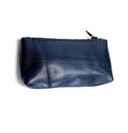 Ink Blue Moroccan Leather Coin Purse