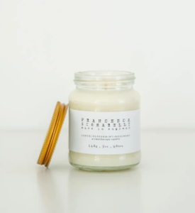 rosemary cedar wood mandarin candle