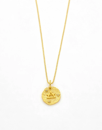Air Element Necklace | Gold