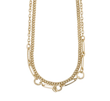 Load image into Gallery viewer, Pilgrim Sensitivity Gold Plated Chain Necklace Duo