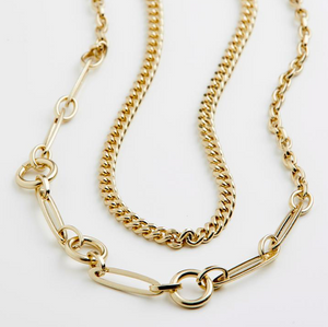 Pilgrim Sensitivity Gold Plated Chain Necklace Duo