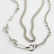 Load image into Gallery viewer, Pilgrim Sensitivity Silver Plated Chain Necklace Duo