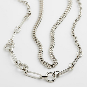Pilgrim Sensitivity Silver Plated Chain Necklace Duo