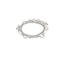 Load image into Gallery viewer, Pilgrim Sensitivity Silver Plated Bracelet Duo