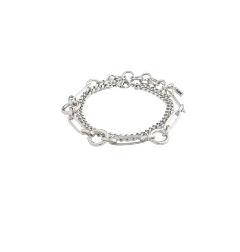 Pilgrim Sensitivity Silver Plated Bracelet Duo