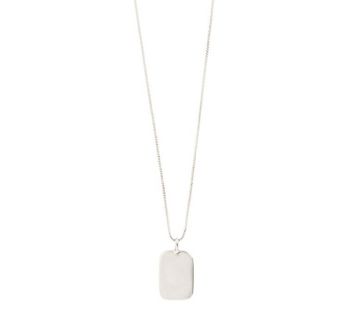 Intuition Silver Plated Tag Necklace