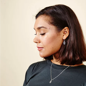 Just Trade Ethically Made Silver Plated Meadow Mini Leaf Earrings